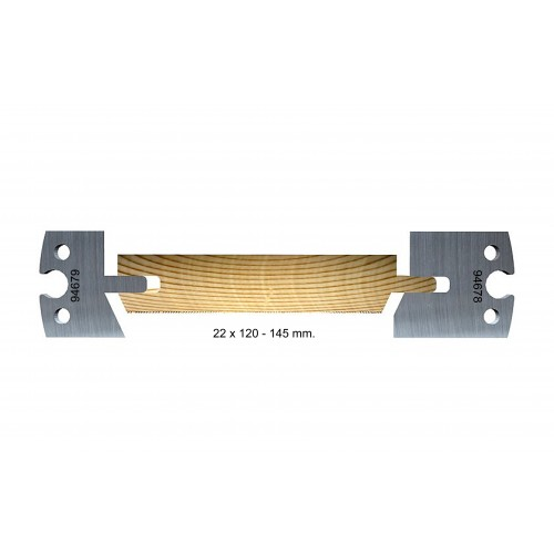 Chamfered, outdoor, 22 x 120–145 mm