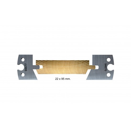 Chamfered, outdoor, 22 x 95mm